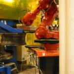 robot stacking wheels